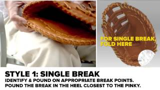 Wilson: Breaking in a First Baseman Baseball Mitt (Dunham's Sports)