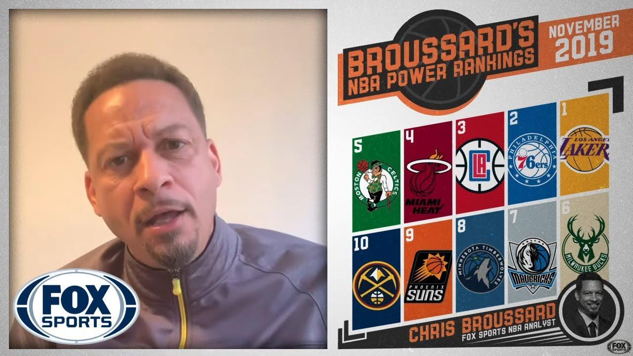 Chris Broussard S Nba Power Rankings Fox Sports Youtube