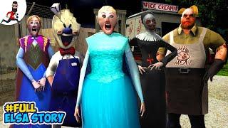 Download lagu 👸Full Story of Granny Elsa and Ice Scream🍦Funny Animation Horror Cartoon
