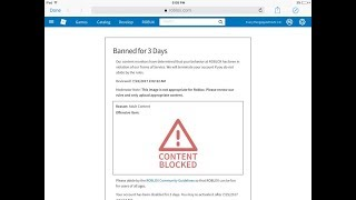 How i got banned from roblox for 3 days...