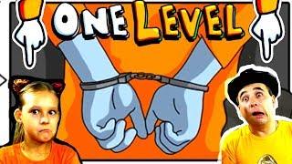 СТИКМЕН в ЛАБИРИНТЕ тюрьме! 1000 вариантов прохождения! ПОБЕГ СТИКМЭНА из ТЮРЬМЫ в One LEVEL 2