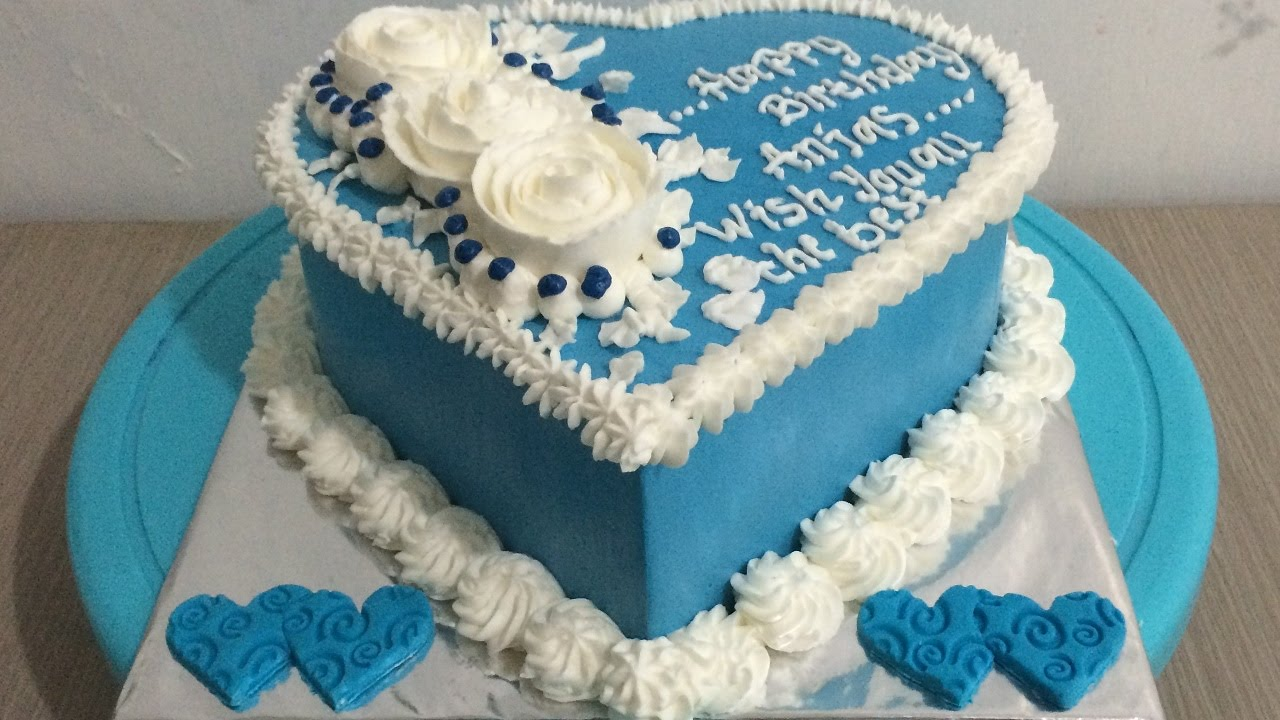 Love Blue Cake Decorating Easy Youtube