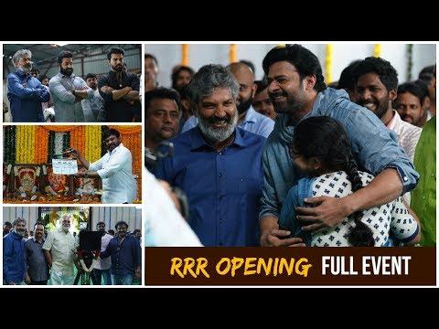 RRR Opening Full Event | Prabhas | SS Rajamouli | Jr NTR | Ram Charan | Chiranjeevi | friday Poster