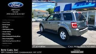 Used 2009 Ford Escape   Rite Cars, Inc, Lindenhurst, NY