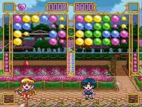 Sailor Moon Puzzle Game- Venus vs. Mercury - YouTube