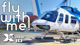 X-Plane 10 #3 - Heli Tour around St. Louis