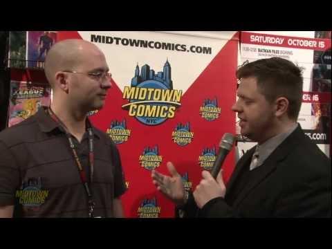 Batman Files writer Matthew Manning at New York Comic Con 2011
