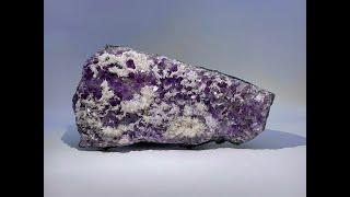 Fine Mineral Collection: Calcite on Quartz var. Amethyst from Iraí, Rio Grande do Sul, Brazil