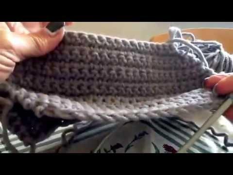 Visiera su berretto  in lana - Tutorial completo sul blog iopensoame.blogspot.it