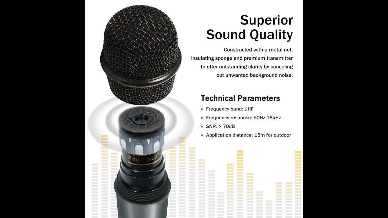 TONOR UHF Handheld Wireless Microphone with Bluetooth Receiver