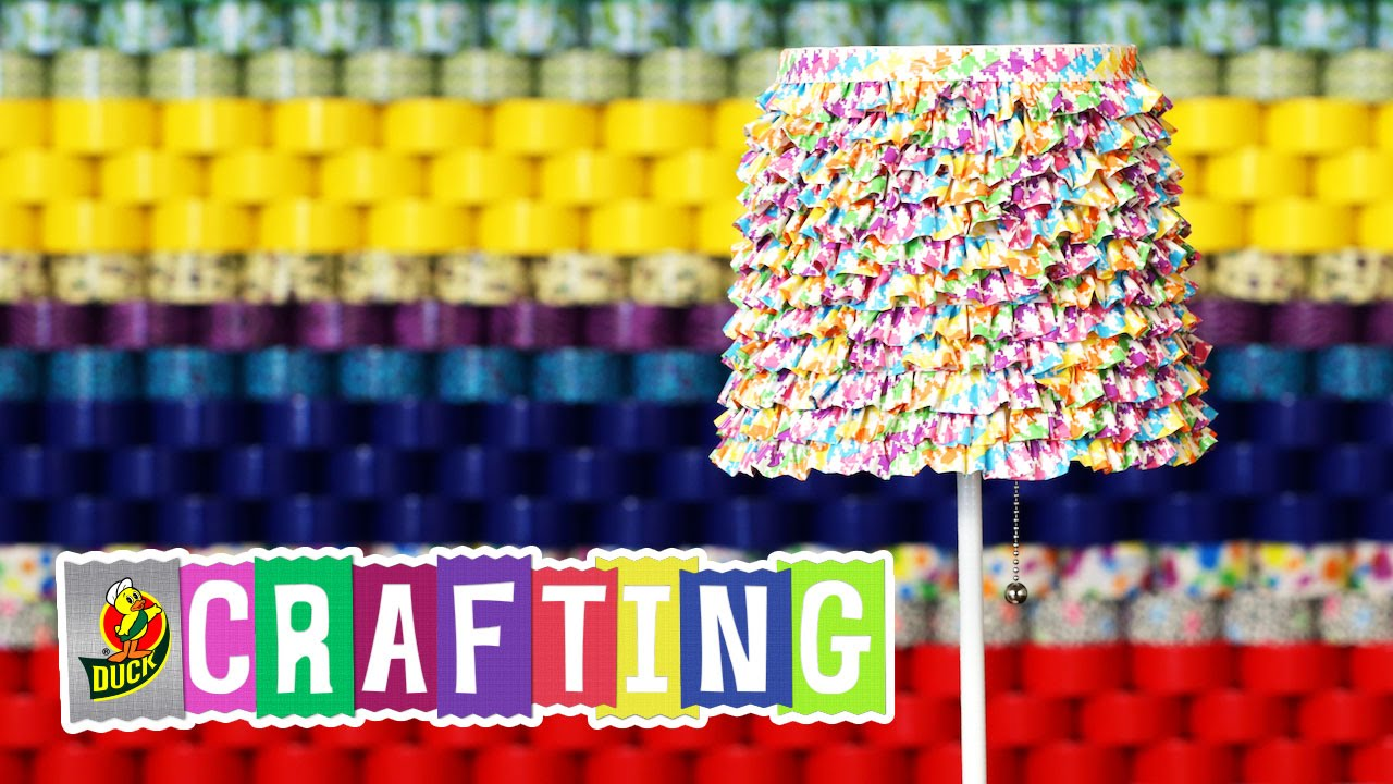 How to craft a duct tape ruffled lamp shade youtube aloadofball Choice Image