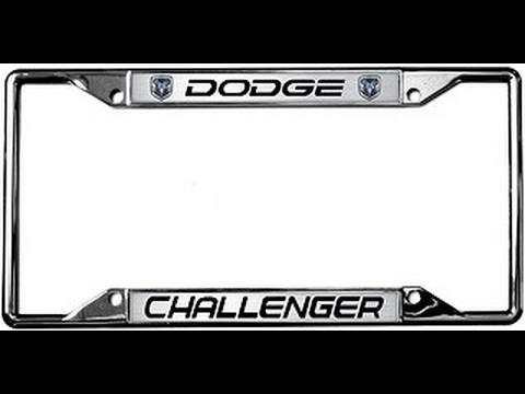 2009 2014 Dodge Challenger License Plate Frame - YouTube