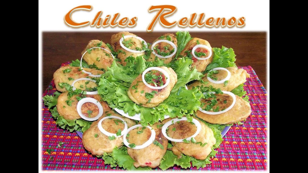 Receta Chiles Rellenos Guatemala - YouTube