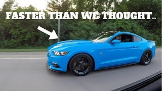 1000HP MUSTANG GT DESTROYED OUR HELLCAT IN A RACE!
