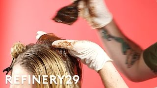 We Tested Nutella Hair Dye Challenge | Try This Challenge | Refinery29