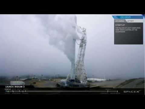 SpaceX Launches Through Fog - Iridium-2 Mission