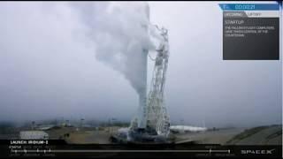 SpaceX Launches Through Fog - Iridium-2 Mission