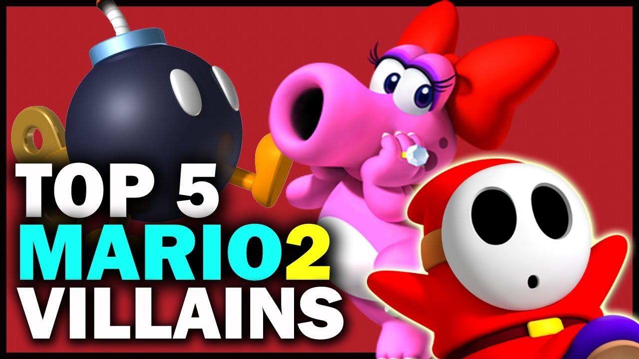 Top 5 Villains From Super Mario Bros 2 Youtube