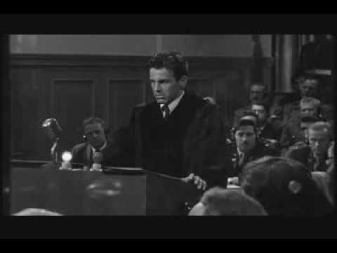 "Maximilian Schell in Judgment at Nuremberg -- ""World's Guilt"""
