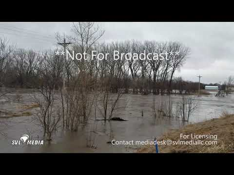 Council Bluffs/Oakland, Iowa - Major Flooding/Buildings, Campsites Submerged - March 14th, 2019