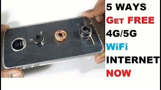 SIMPLE BEST TOP 5 HOW TO MAKE FREE INTERNET WiFi 2018