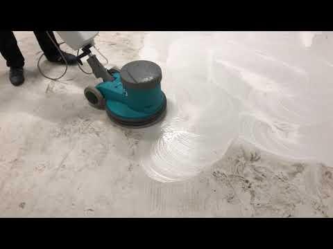 Роторная чистка полимерных полов