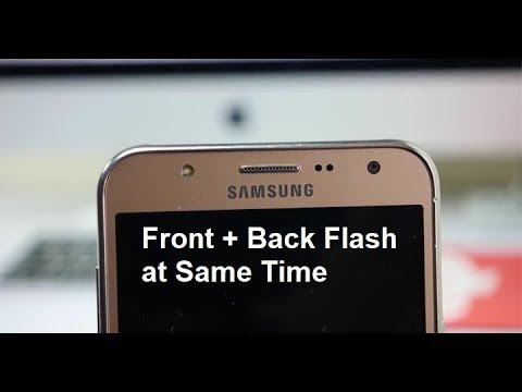 How to turn on Front and Back Flash at same Time