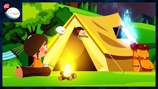 여름방학 캠핑! 텐트치고 먹고 자고 캠프파이어 도깨비불 도깨비 소동 도깨비방망이 보물상자 매미 늑대 키즈 만화 유아동영상 #27 [씽씽츄]