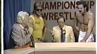 Lex Luger, Rick Rude, and Percy Pringle training and promo (CWF 1985)