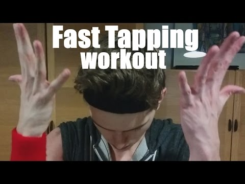 (ASMR) Extreme Fast Tapping Workout - Whispering + Aggressive, Intense Tapping