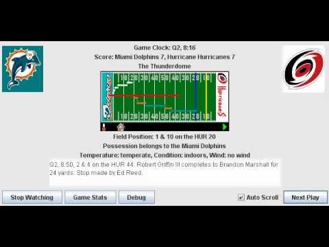 Week 3: Miami Dolphins (1-1) @ Hurricane Hurricanes (0-2)