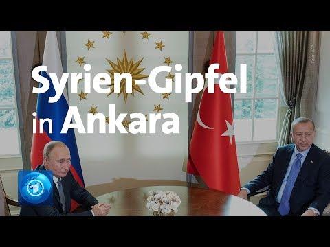 Krieg in Syrien: Gipfel zwischen Russland, Türkei und Iran in Ankara