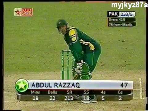 Abdul Razzaq 89 Off 40 Balls - 9 Fours & 5 Sixes - Vs New Zealand 2004