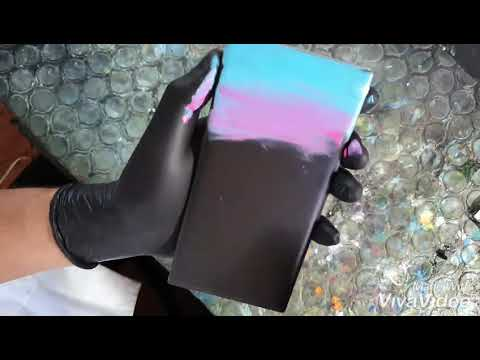 """Finger Painting (timelapse) """"waterfall with dolphin"""""""