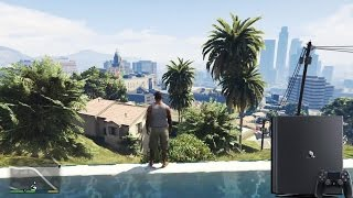 PS4 PRO, GTA 5 GRAPHICS COMPARISON GTA 5, 4K-HDR