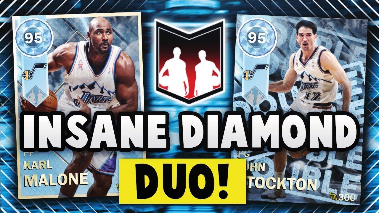 NBA 2K18 MyTEAM STOCKTON & MALONE DIAMOND DYNAMIC DUO!! | NBA 2K18 MyTEAM  GAMEPLAY
