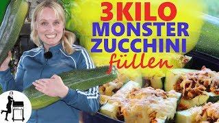 Gefüllte Zucchini Rezept / 2 Varianten: Fleisch & Vegetarisch / Die Frau am Grill