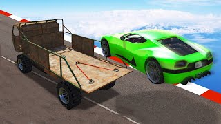 LAND ON THE CAR CHALLENGE! (GTA 5 Funny Moments)