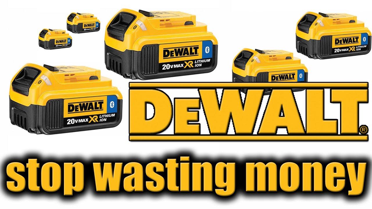 Dewalt Tools You Re Wasting Money On 20v Max Batteries Youtube