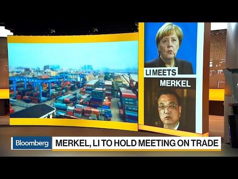 Chinese Premier Li Keqiang Meets Merkel