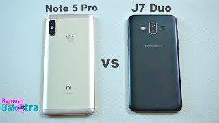 Samsung Galaxy j7 Duo vs Redmi Note 5 Pro Speed and Camera Comparison