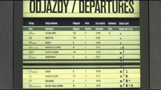 McDonald's The Train Timetable at station in Poland
