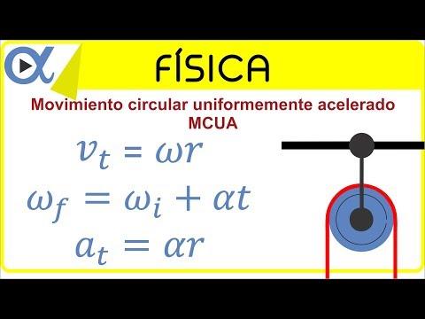 Movimiento circular uniformemente acelerado (MCUA) ejemplo 4 de 5   Física - Vitual