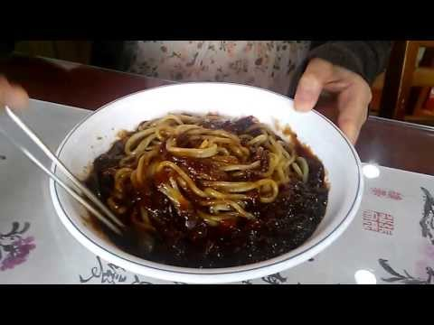 Korean cuisine, jajangmyeon, black-bean-sauce noodles 2dollars, 2bucks, 짜장면 2000원