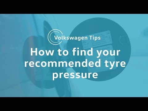 VW Tips: How to check the recommended tyre pressure