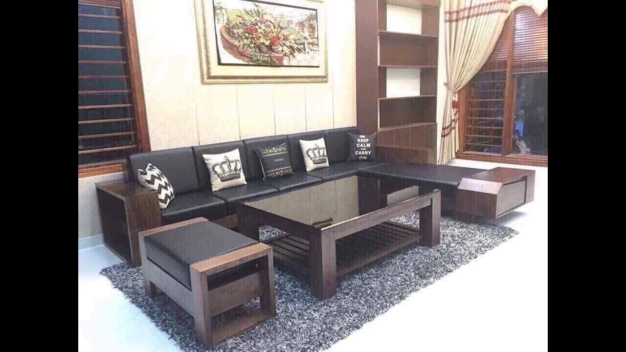 Bàn ghế phòng khách hiện đại   Mẫu Sofa gỗ đẹp sang trọng tinh tế