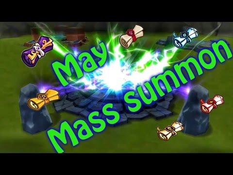 Summoners war: May Mass summon + Friend summons! 400+ ms/27ld/15 legendary!