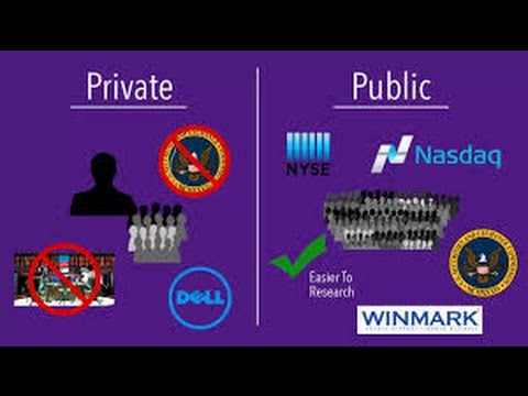 Difference between Public and Private Company.