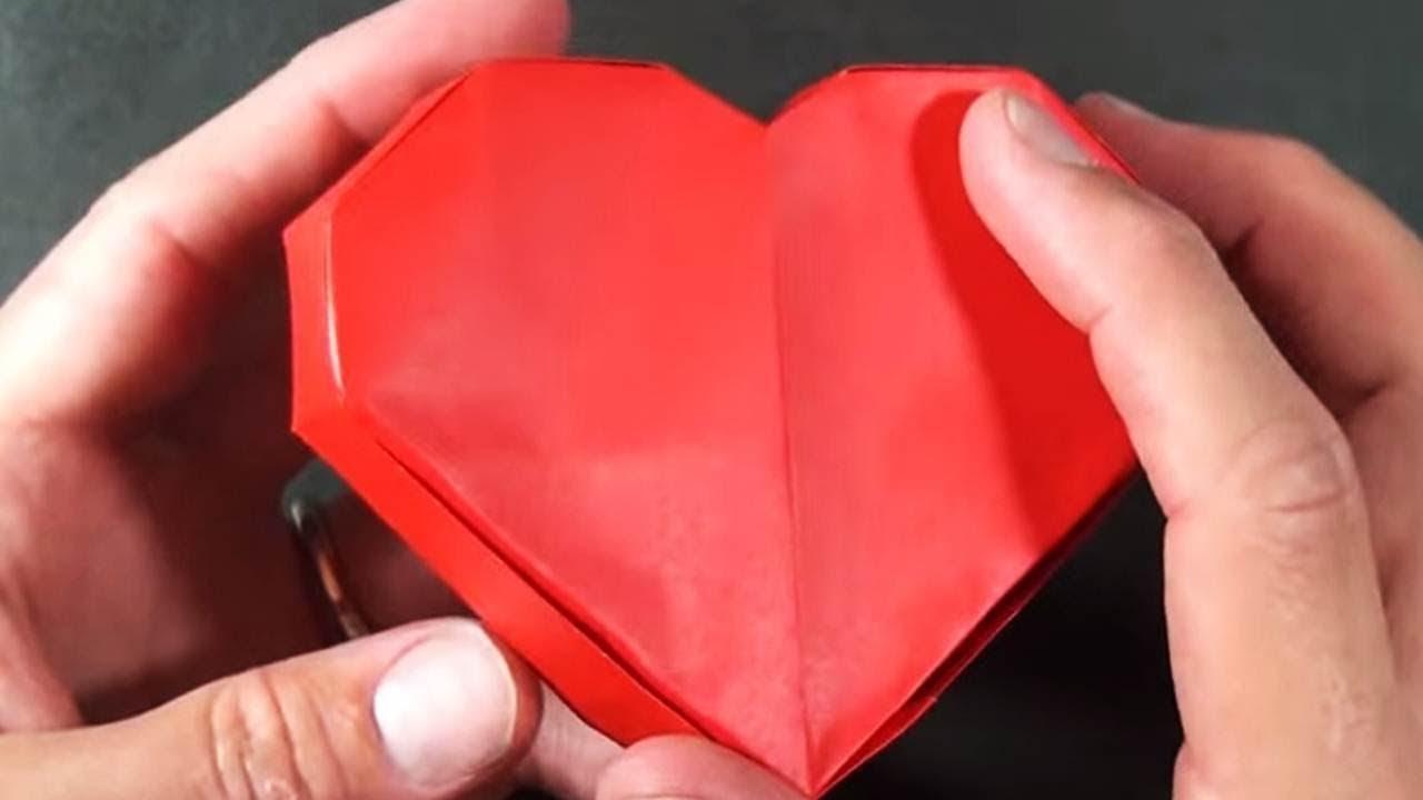 Bật mí cách gấp hộp hình trái tim cực kỳ đơn giản