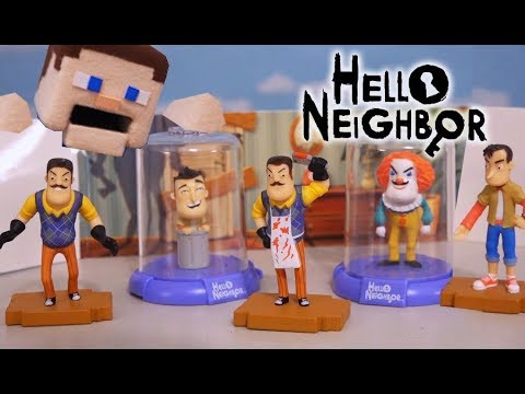 Hello Neighbor Mini Action Figures Collectors Set 3 Pack Zag Toys Domez Unboxing Clown